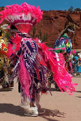 Pueblo Drawing - Fancy Dancer by Tim McCarthy