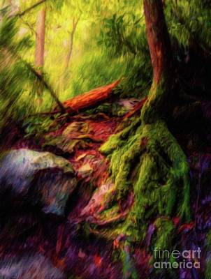 Tree Roots Art Painting - Fantasy Land by Sarah Kirk