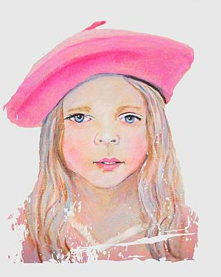 Painting - Fayanna Little French Angel Of Trust by The Art With A Heart By Charlotte Phillips