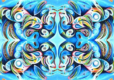 Feeding Frenzy Art Print by Ky Wilms