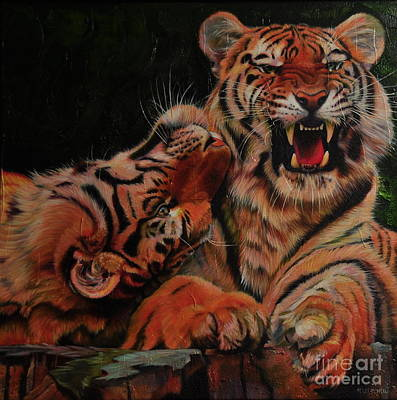 Painting - Feline Love by Kelly McNeil