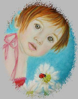Painting - Felisa Little Angel Of Happiness And Luck by The Art With A Heart By Charlotte Phillips