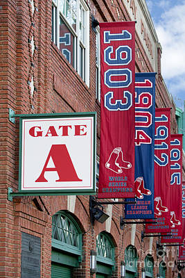 Fenway Park Gate A Art Print by Jerry Fornarotto