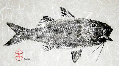 Painting - Fenwick Gyotaku by Sam Fenwick