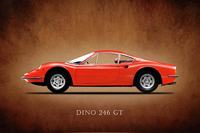 Photograph - Ferrari Dino 246 Gt by Mark Rogan