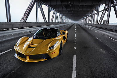 Photograph - #ferrari #laferrari #print by ItzKirb Photography