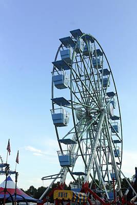 Ferris Wheel Art Print by Carolyn Ricks