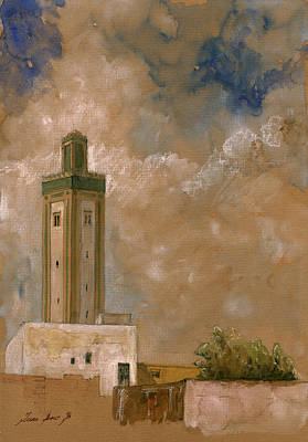 Fes Morocco Orientalist Painting Art Print