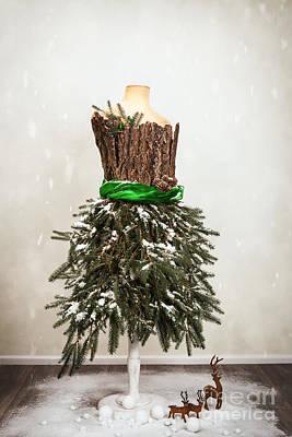 Festive Christmas Mannequin Art Print by Amanda Elwell
