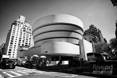 fifth avenue at the Solomon Guggenheim museum in carnegie hill upper east side New York City USA Art Print