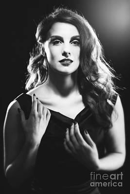 Film Noir Photograph - Film Noir Woman by Amanda Elwell