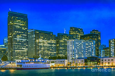 Photograph - Financial District Lighted At Night by David Zanzinger