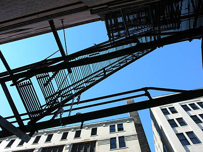 Lowertown Photograph - Fire Escape Study by Janis Beauchamp