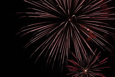Fireworks Art Print by Chuck Bailey