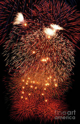 Photograph - Fireworks Display by Jim Corwin