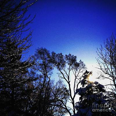 Frank J Casella Royalty-Free and Rights-Managed Images - First Thaw After The First Snow by Frank J Casella