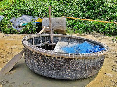Dog In Landscape Digital Art - Fishing Boat. Phu Quoc. Vietnam. by Andy Za