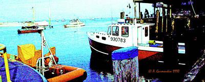 Digital Art - Fishing Boats In Cape Cod Bay Digital Art by A Gurmankin