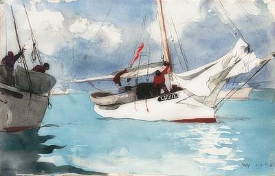 Painting - Fishing Boats, Key West, by Winslow Homer