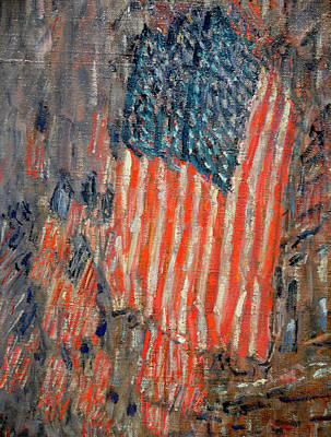 Patriotism Painting - Flags On The Waldorf by Childe Hassam