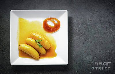 Photograph - Flambeed Fried Banana In Orange Reduction And Tangerine Caramel by Jacek Malipan