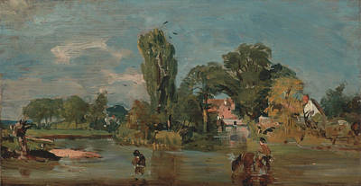 Water Mill Painting - Flatford Mill  by John Constable