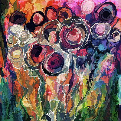 Digital Art - Floral Abstract  by OLena Art Brand