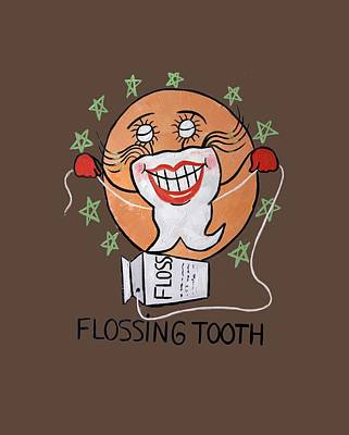 Painting - Flossing Tooth by Anthony Falbo