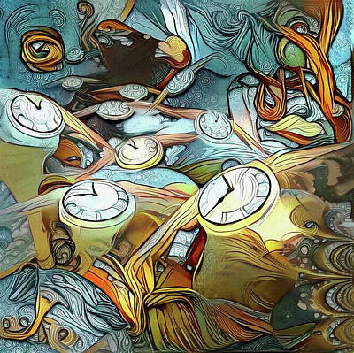 Surrealism Digital Art - Flow of Time by Bruce Rolff