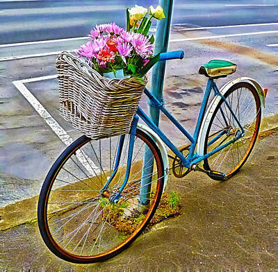 Mixed Media - Flower Bike Collection by Marvin Blaine