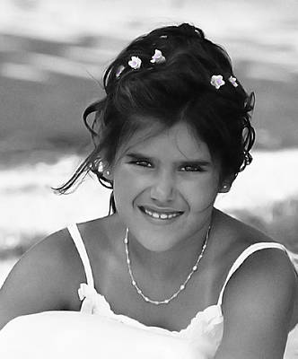 Photograph - Flower Girl by Dyle Warren
