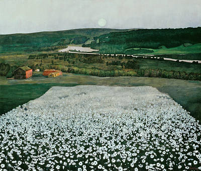 Painting - Flower Meadow In The North by Harald Sohlberg