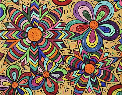 Painting - Flower Power by Susie WEBER
