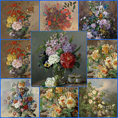 Painting - Flowers Collage by Celestial Images