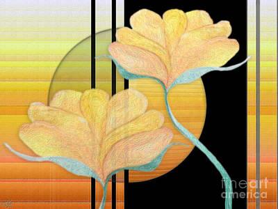 Blooms Digital Art - 2 Flowers by Sue Gardiner