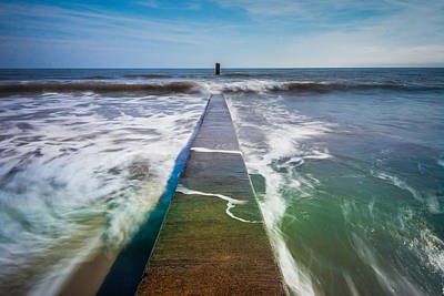 Art Print featuring the photograph Folly Beach by RC Pics