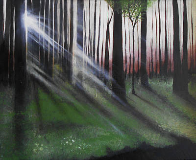 Mixed Media - Forest by Angela Stout