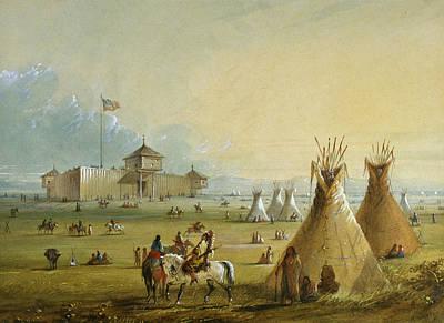 Laramie Painting - Fort Laramie by Alfred Jacob Miller