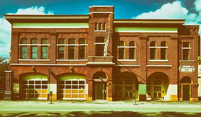 Entrance Door Photograph - Fort Wayne Firefighters Museum by L O C