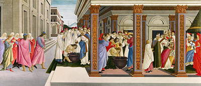 Holy Art Painting - Four Scenes From The Early Life Of Saint Zenobius by Sandro Botticelli