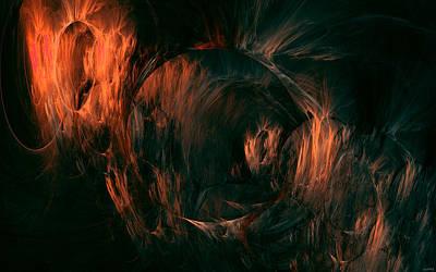 Curve Digital Art - Fractal by Maye Loeser