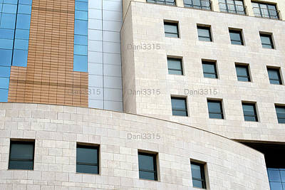 Tower Photograph - Fragment Of A Modern Building by Dani Prints and Images