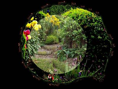 Digital Art - Framed Garden by Nancy Pauling