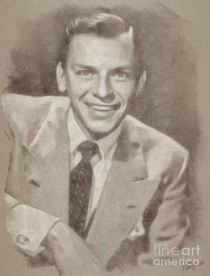 Frank Sinatra Drawing - Frank Sinatra Hollywood Singer And Actor by John Springfield