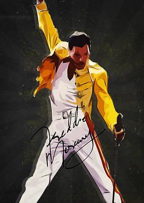 Freddie Mercury Print by Semih Yurdabak