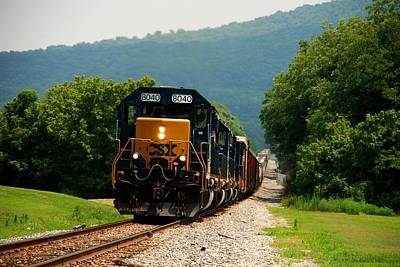 Photograph - Freight Train by Kenny Glover