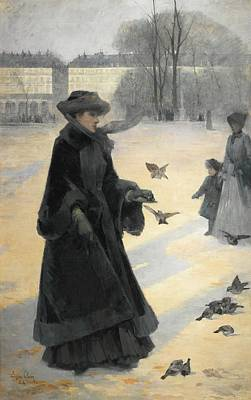 Tuileries Painting - French Au Jardin Des Tuileries by Jean Eugene