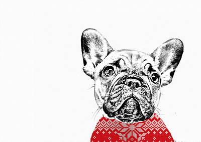 Puppy Mixed Media - French Bulldog Portrait by Marvin Blaine
