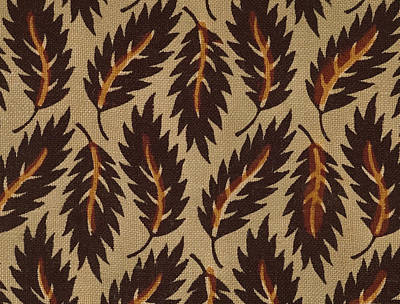 Fall Painting - French Fabric Design by French School