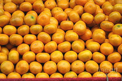 Photograph - Fresh Natural Oranges by Yali Shi